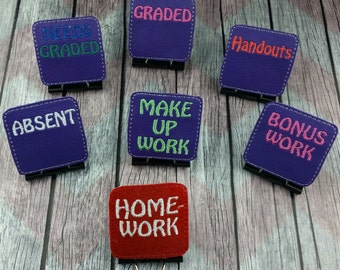 Teacher Organization Binder Clips, school work organization