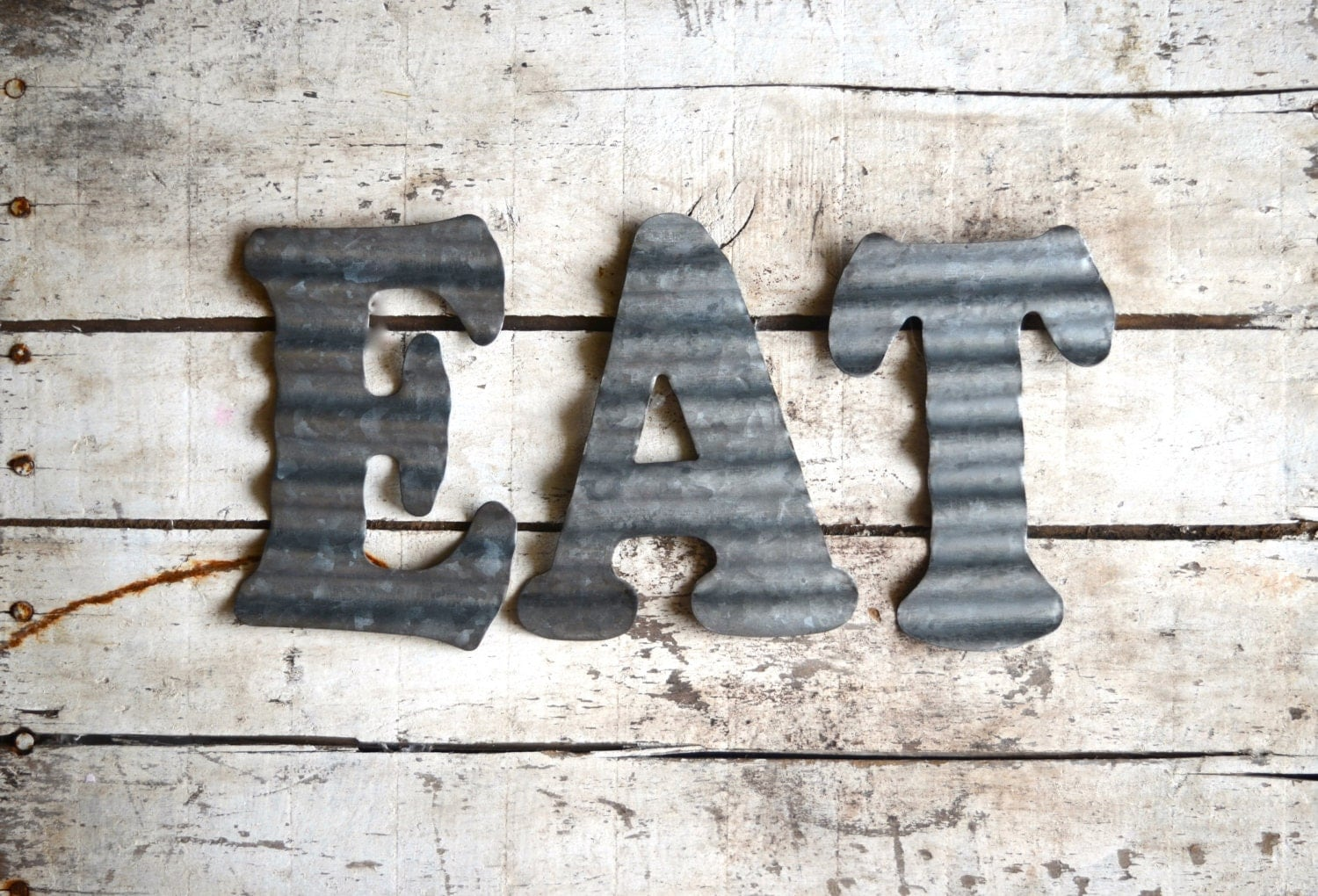 vintage metal letters for the wall galvanized metal letter wall sign eat vintage style eat sign 14776