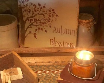 Autumn Blessings sign primitive fall sign