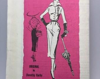 50s Sleek Dress - Dorothy Korby - Prominent Designer Pattern -Bust  38 - UNUSED