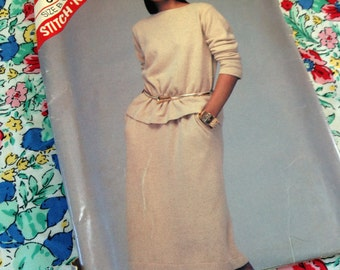 Vintage Mccalls Pattern 8744, stitch n save, top and skirt pattern, 14 16 18 pattern, uncut pattern