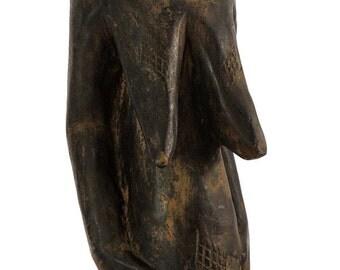 Baule Pregnant Female Figure Cote d'Ivoire African Art 100716