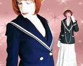 Vintage Sailor Jacket - 1960s Navy Blue Blazer with Sailor Collar