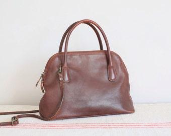 Vintage brown leather Tula handbag shoulder bag