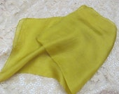 """Beautiful Solid Green Silk Pocket Scarf Square 17"""""""