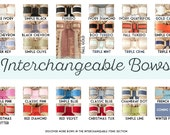 Interchangeable Bow™ - Removable, Interchangeable with Burlap Wreaths, Intitals, Monograms, and Chalkboards