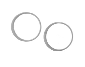 Circles Sterling Silver 15x15mm Circle Hammered links - 10pcs 30% Discounted (2863)/5