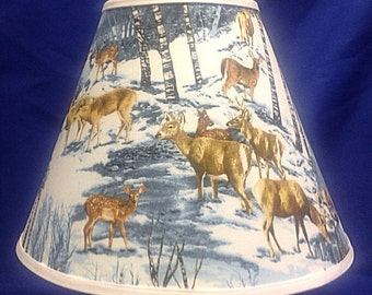 Deer Winter Scene Lamp Shade