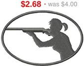 SALE - 33% OFF Instant Download Riflewoman embroidery design - Machine Embroidery Design - Digital Design File