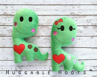 Stuffed Dino - Plush Dinosaur - Dinosaur Toy - Stuffed Animal - Gifts for Him - Gifts for Kids - Holiday Stocking Stuffer - Gifts Under 20
