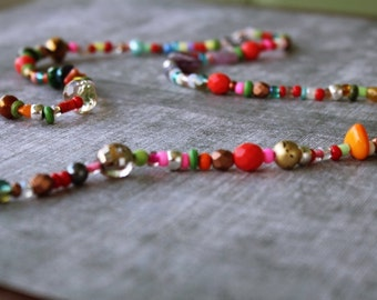 Gypsy Necklace - Boho Necklace - Bohemian Necklace - Beaded Necklace - Colorful Necklace - Statement Necklace - Fashion Necklace for Women