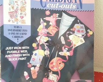 1995 Daisy Kingdom No Sew Cardigan Cut Outs