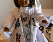 doll dress hair clip butterfly jar jacket skirt blouse necklace butterflies pale purple lace ribbon magnifying glass