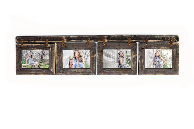 Barnwood Collage Frame 4 Hole 5x7 Multi Opening Frame Rustic