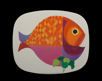 Mid Century Vintage Savoy 60s Fish Place / Table Mats Worcester Ware.. Made in Great Britain.