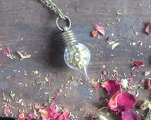Wiccan Jewelry PASSIONFLOWER amulet Witchcraft Herbs vial necklace spells pagan wicca herbs magick occult witchcraft witch amulet