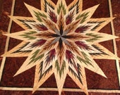 60 x 60 hand made star wall hanging made to order