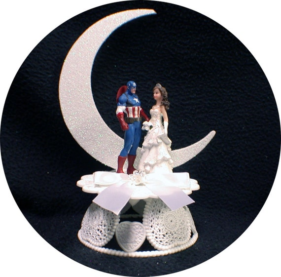 marvel wedding cake toppers captain america wedding cake topper top moon 17218