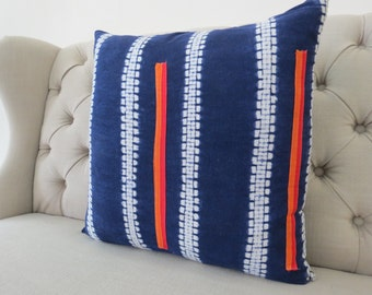 Vintage Hmong Hemp cushion cover, Handwoven Hemp Fabric-vintage Homespun hemp,Decorative Cushion