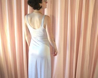 Off White Stretch Sleeveless Slip Dress
