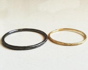 Fair 18k yellow gold 18k and palladium 500 wedding bands, Fairmined weddingrings