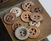 Set of 10 Antique original different buttons (n013)