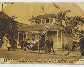 New York State Fair German Kali Works Sepia Postcard, Upstate, Syracuse NY, Antique Unused Advertising Ephemera c1910, FREE SHIPPING