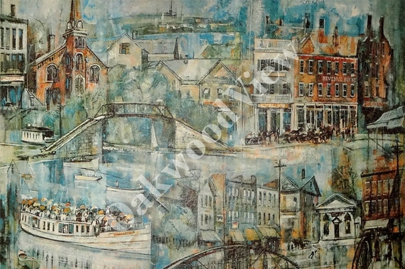 Fayetteville new york erie canal print syracuse ny onondaga for Mercedes benz of syracuse fayetteville ny