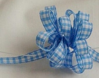 Blue Gingham  Ribbon ... 5 yards