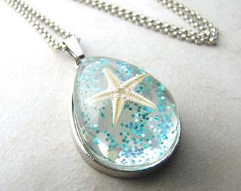 Starfish Necklace, Sea Shell Necklace, Seashell Necklace, Shell Necklace, Ocean Necklace, Beach Necklace, Mermaid Necklace