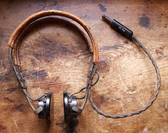 Vintage Radio Headphones - Army Military Shortwave Radio Headphones