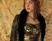 reserved 20's Vintage Flapper Velvet Metallic Lame' Opera Cape