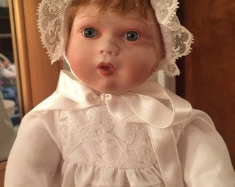 Sweet Antique-Style Porcelain Baby Doll