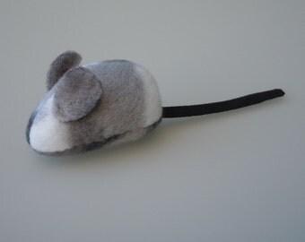 Catnip Mouse Cat Toy Gray Camo Fleece