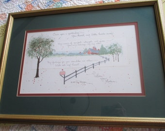 Vintage D. Morgan Framed Painting With Mother Verse/Poem - Signed - 1989