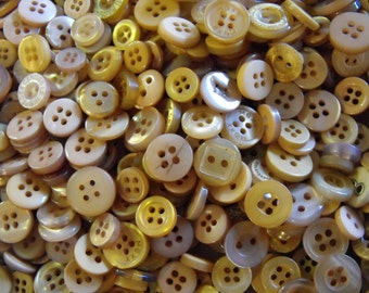 Light Brown Brown Buttons, 50 Small Assorted Round Sewing Crafting Bulk Buttons