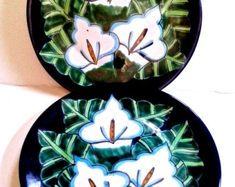 Take 20% Off TWO Lead Free Talavera Calla Lily Dessert Plates