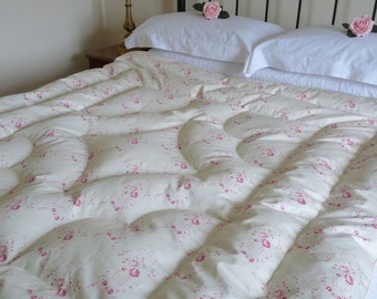 "Bedroom Decor NEW Vintage Inspired ""Louise"" Feather Eiderdown Quilt Comforter"