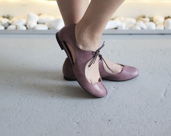 Clementine - Lilac - FREE SHIPPING Handmade Leather Shoes with Summer Sale Price