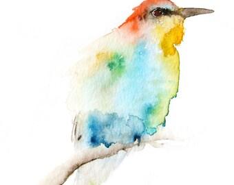 Art Print from Original Bird Watercolor Bee Eater