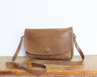SALE Vintage Coach Bag // City Messenger Bag Putty Tan Pre 9790 // Coach Leatherware Handbag Purse