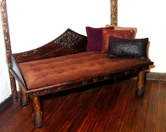 Medieval Daybed, Dollhouse Miniature 1/12 Scale, Hand Made