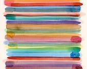 Chroma: original abstract watercolor colorful minimalist modern art