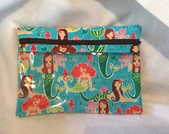 Mermaids Peek a boo zipper pouch