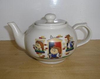 Vintage Advertising Collectible - Limited Edition Tetley Teapot, Tetley Tea Folk Teapot