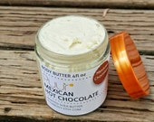 Summer SALE Mexican Hot Chocolate Whipped Shea Butter - Spicy Vanilla Body Butter -  Raw Shea Butter 4oz Body Lotion VEGAN Moisturizing Butt