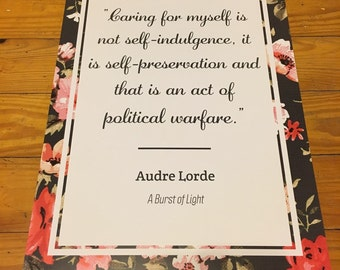 Audre Lorde Quote Poster