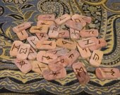 Cedar AngloSaxon rune set - FREE DOMESTIC SHIPPING