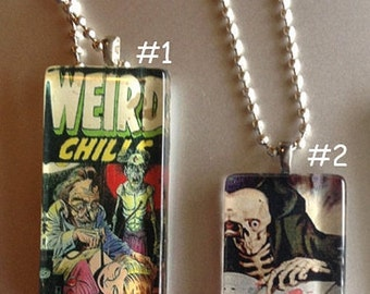 ON SALE Creepy and Weird Comic Necklaces