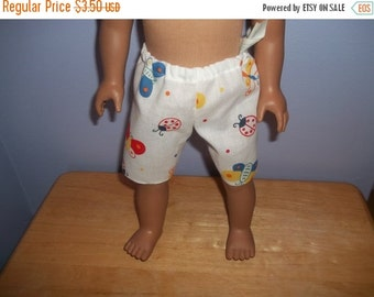 American 18 Inch doll clothes shorts white with butterflies